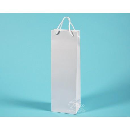 papírové tašky ALEX (na víno) 11,5x9x37 matná křída 170g lesklé lamino