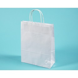 Papírové tašky TWIST EKO 24x10x31 ekologický certifikovaný papír s krouceným uchem