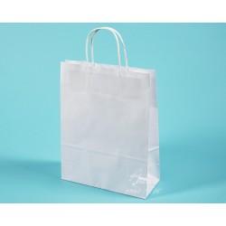Papírové tašky TWIST EKO 24x10x31 ekologický certifikovaný papír