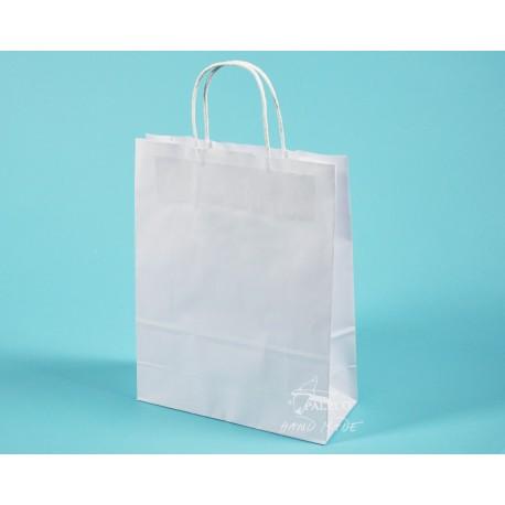 papírové tašky TWIST EKO 24x10x31 hnědý 100g ekologický certifikovaný papír s krouceným uchem