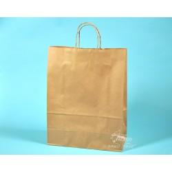 Papírové tašky TWIST EKO 32x14x41 ekologický přírodní papír s krouceným uchem