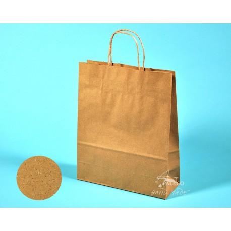 papírové tašky Trávové 24x10x31 hnědý přírodní trávový papír