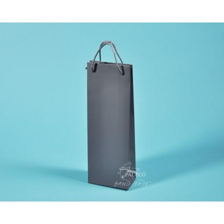 papírové tašky dárkové BŘÉŤA 11,5 x 7 x 32 šedý 170g křída  matné lamino
