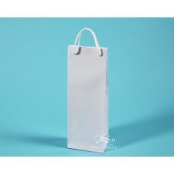 papírové tašky dárkové BŘÉŤA 11,5 x 7 x 32 bílý ofset 140g  lesklé lamino