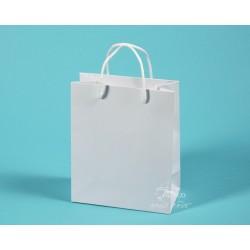 Papírové tašky JIŘINA 18 x 9 x 21 bílý ofset 180g