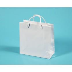 papírové tašky dárkové MIRIAM 20x9x20 bílá křída 135g, lesklé lamino