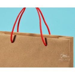 papírové tašky trávové BÁRA 25x9x37 hnědý travní papír přírodní